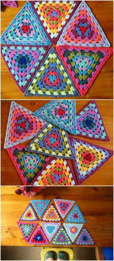crochet triangle pattern ideas  pinterest