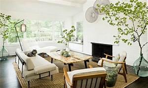 1001 conseils et idees pour amenager un salon rustique With tapis oriental avec le corner canapé scandi