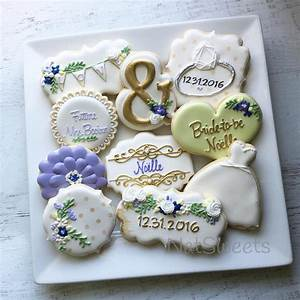 bridal shower cookies bridalshowercookies decorated With wedding shower sugar cookies