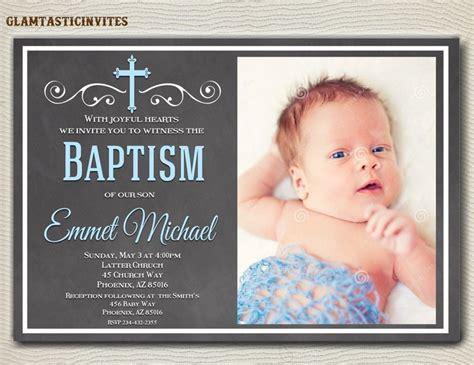 Baptism Invitation Boy Baptism Invitation Printable Boy