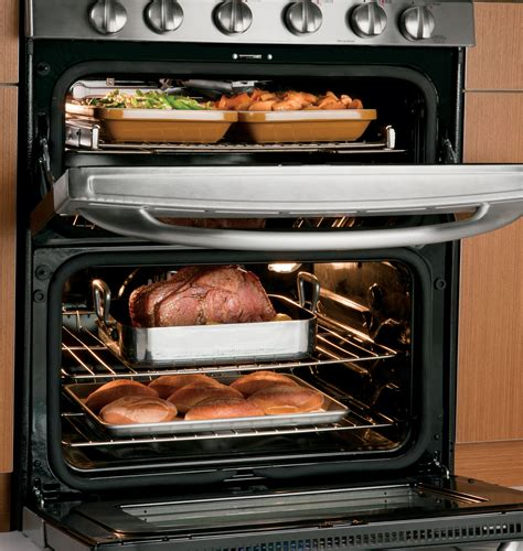cooking options   nice   ge double oven gas ranges ge appliances pressroom