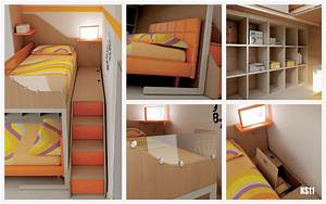 Lit Mezzanine Enfant : chambre enfant lits superpos s en mezzanine moretti compact so nuit ~ Teatrodelosmanantiales.com Idées de Décoration