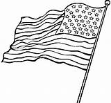 Coloring Flag American Pages Printable Colouring Popular sketch template