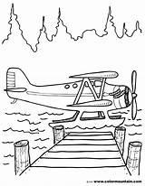 Coloring Plane Water Airplane Float Colouring Printable Drawing Ds Panda Kung Fu Sketchite Kleurplaten Cartoon Curious George Credit Larger Sheets sketch template