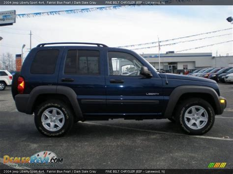 desert tan jeep liberty 2004 jeep liberty sport 4x4 patriot blue pearl dark