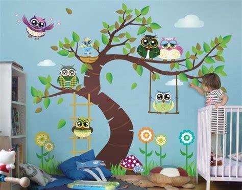 Kinderzimmer Gestalten Eulen by Wandtattoo Kinderzimmer Eule No Yk23 Lustiger Eulenbaum In