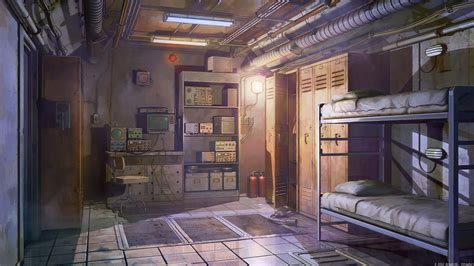 Anime Wallpaper Room - 1920x1080 anime room beds tech lights
