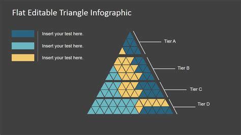 flat editable triangle infographic slidemodel