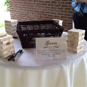 alternative to wedding guest book jenga block guest book graduation party