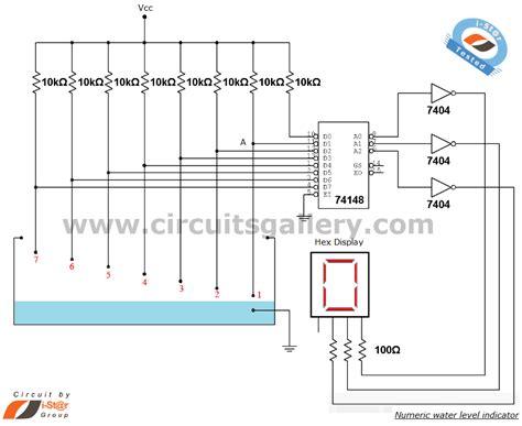 numeric water level indicator liquid level sensor circuit