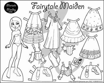 Paper Doll Printable Dolls Elsa Marisole Coloring