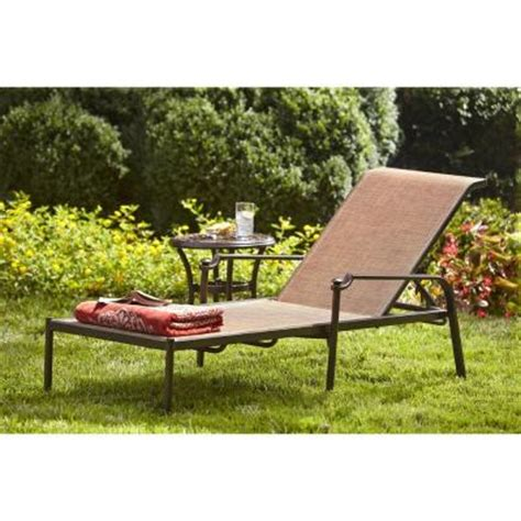 chaise balancelle hton bay niles park sling patio chaise lounge