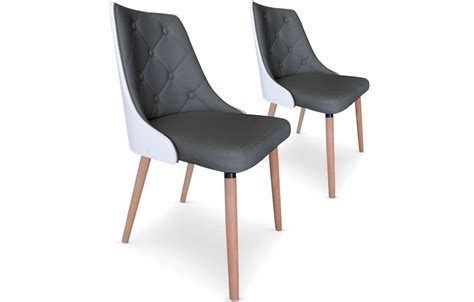 chaise simili cuir blanc chaise simili cuir blanc affordable plateau arrondi noir