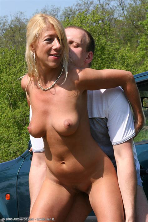 Salty Blonde Mature Woman Cruises For Some Outdoor Sex