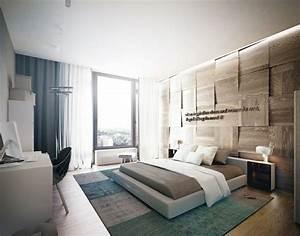 Deco Chambre Bois : mur en bois pour une d co originale de chambre coucher ~ Melissatoandfro.com Idées de Décoration