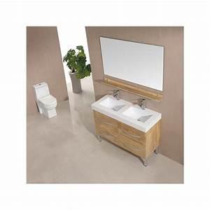meuble salle de bain de luxe en bois massif refsd928bn With meuble salle de bain bois massif naturel