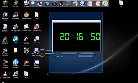 horloge de bureau windows présentation de mon premier programme une horloge