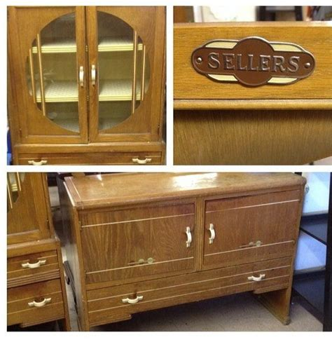 vintage  sellers deco china cabinet buffet