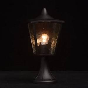 Borne Lumineuse Exterieur : borne lumineuse ext rieur luzinay 37cm noir ~ Teatrodelosmanantiales.com Idées de Décoration