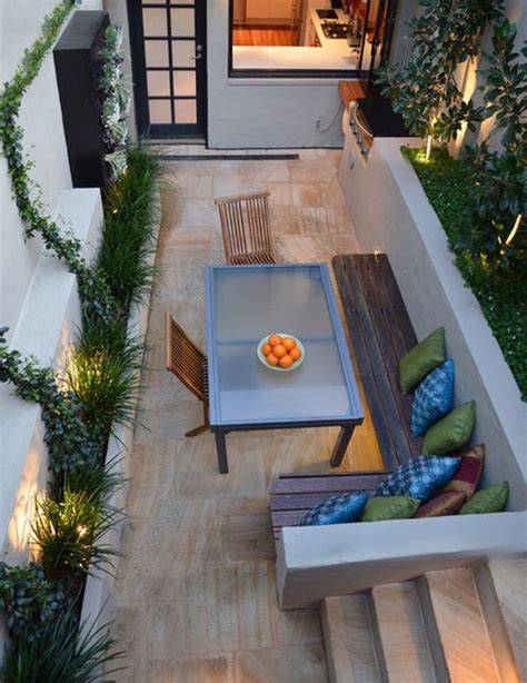Small Table With Bench by 10 Inspiring Design Ideas For Tiny Backyards