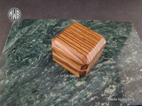 buy  hand crafted zebra wood engagement ring box