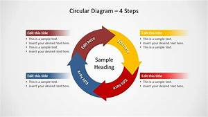 Circular Diagram 4 Steps For Powerpoint