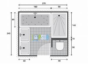 plan plan salle de bain de 65m2 modele et exemple d With exemple plan salle de bain