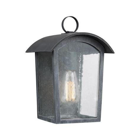 hton bay 1 light zinc outdoor wall lantern hsp1691a