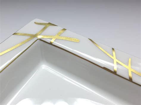 Meissen Porzellan Schwerter by Meissen Porzellan Vide Poche Goldene Schwerter