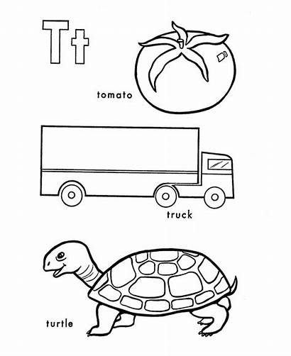 Coloring Letter Turtle Alphabet Abc Preschool Truck