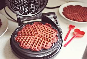 Red Velvet Waffles with Cream Cheese Syrup – A Beautiful Mess