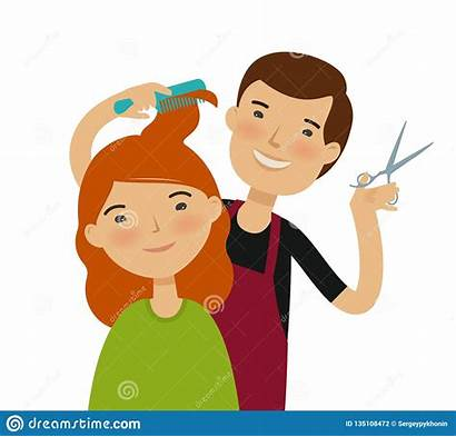 Saloon Corte Clipart Cutting Haircut Coiffeur Coiffure