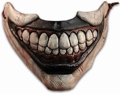 Mouth Clown Mask Creepy Face Horror Teeth