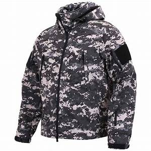 Navy Seal Weapons Spec Ops Subdued Urban Digital Soft Shell Jacket
