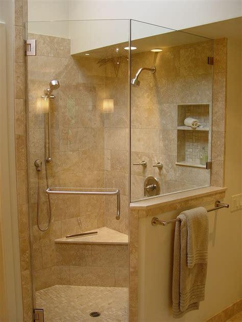 corner shower dimensions bathroom transitional  bar
