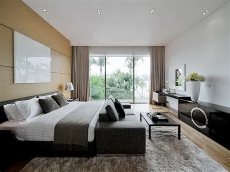2 One Bedroom Apartments With Modern Color Schemes : Brilliant Modern Master Bedroom For Amazing Mad Home
