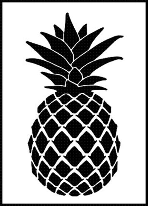 pineapple top silhouette pineapple airbrush stencil template paint wall home decor