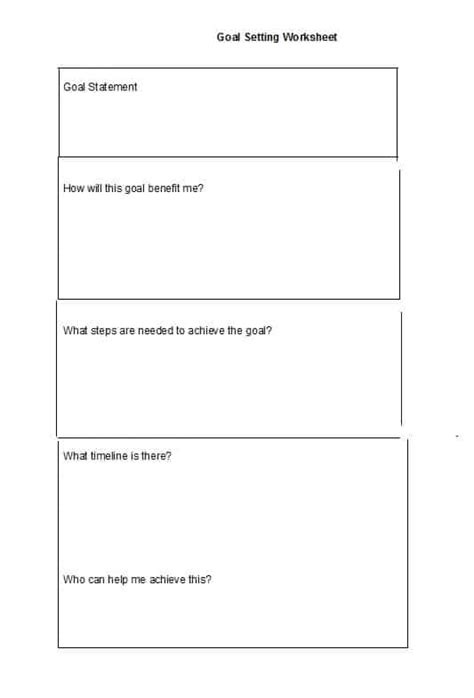 Goal Setting Template 41 S M A R T Goal Setting Templates Worksheets