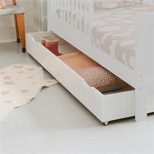 Lit D Enfant Avec Barrière : tiroir de rangement pour lit enfant lit volutif 70x140 ~ Premium-room.com Idées de Décoration