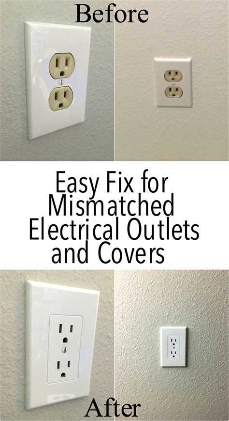colored outlets easy electrical outlet cover tip to fix mismatched