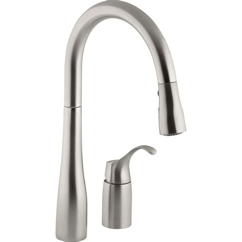 kitchen faucet plumbing kohler k 647 vs simplice vibrant stainless steel pullout