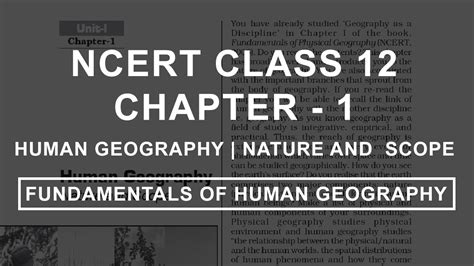 human geography nature  scope chapter  geography