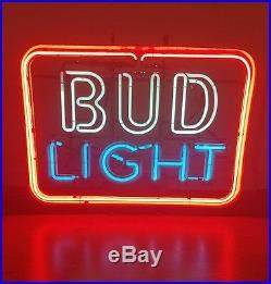 Authentic Vintage BUD LIGHT Neon Beer Sign Antique