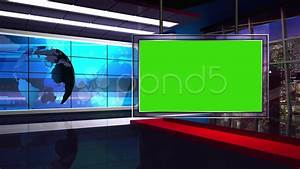 News TV Studio Set 34-Virtual Green Screen Background Loop ...