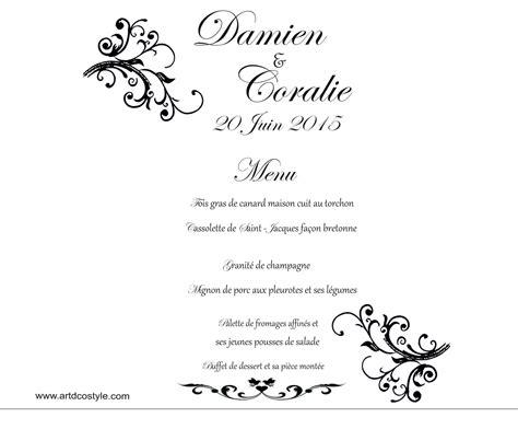 menu photophore artdcostyle d 233 corations de mariage