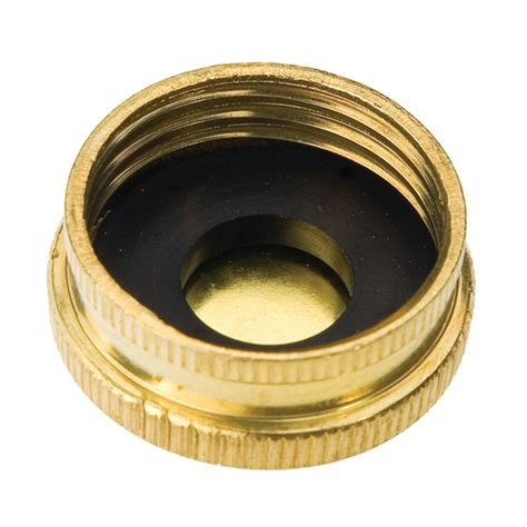 leaking outdoor faucet cap brass hose cap 3 4