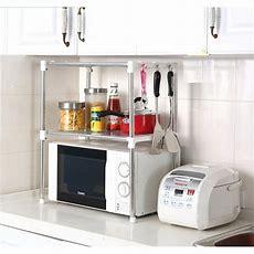 Multifunction Microwave Oven Stainless Steel Shelf Kitchen