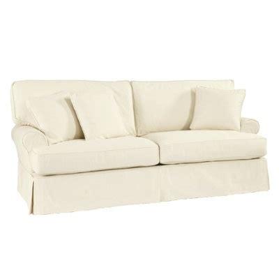 white slip covered sofa ballard designs white slipcovered sofa home living