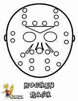 Coloring Hockey Mask Sheets Sheet Goalies Yescoloring Trick Hat Players Sports sketch template
