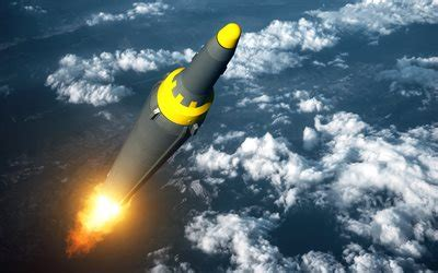 Download Wallpapers Icbm, 4k, Atomic Bomb, Missile